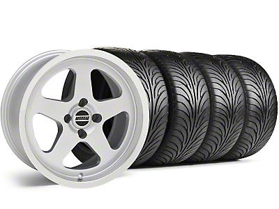 Staggered SC Silver Wheel & Sumitomo Tire Kit - 17x8/9 (87-93; Excludes 93 Cobra)