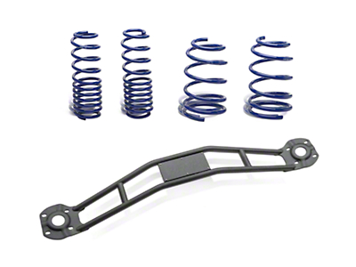 SR Performance Strut Tower Brace & Lowering Spring Kit - Black (05-14 GT, V6)