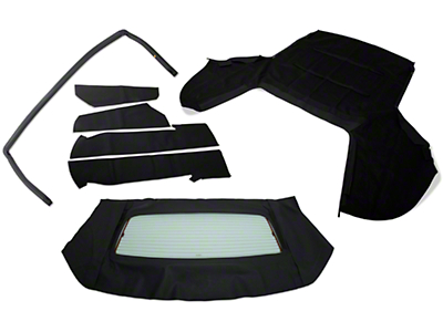 OPR Convertible Top Resto Kit - Black (85-90 All)