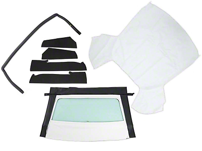 OPR Convertible Top Resto Kit - White (85-90 All)