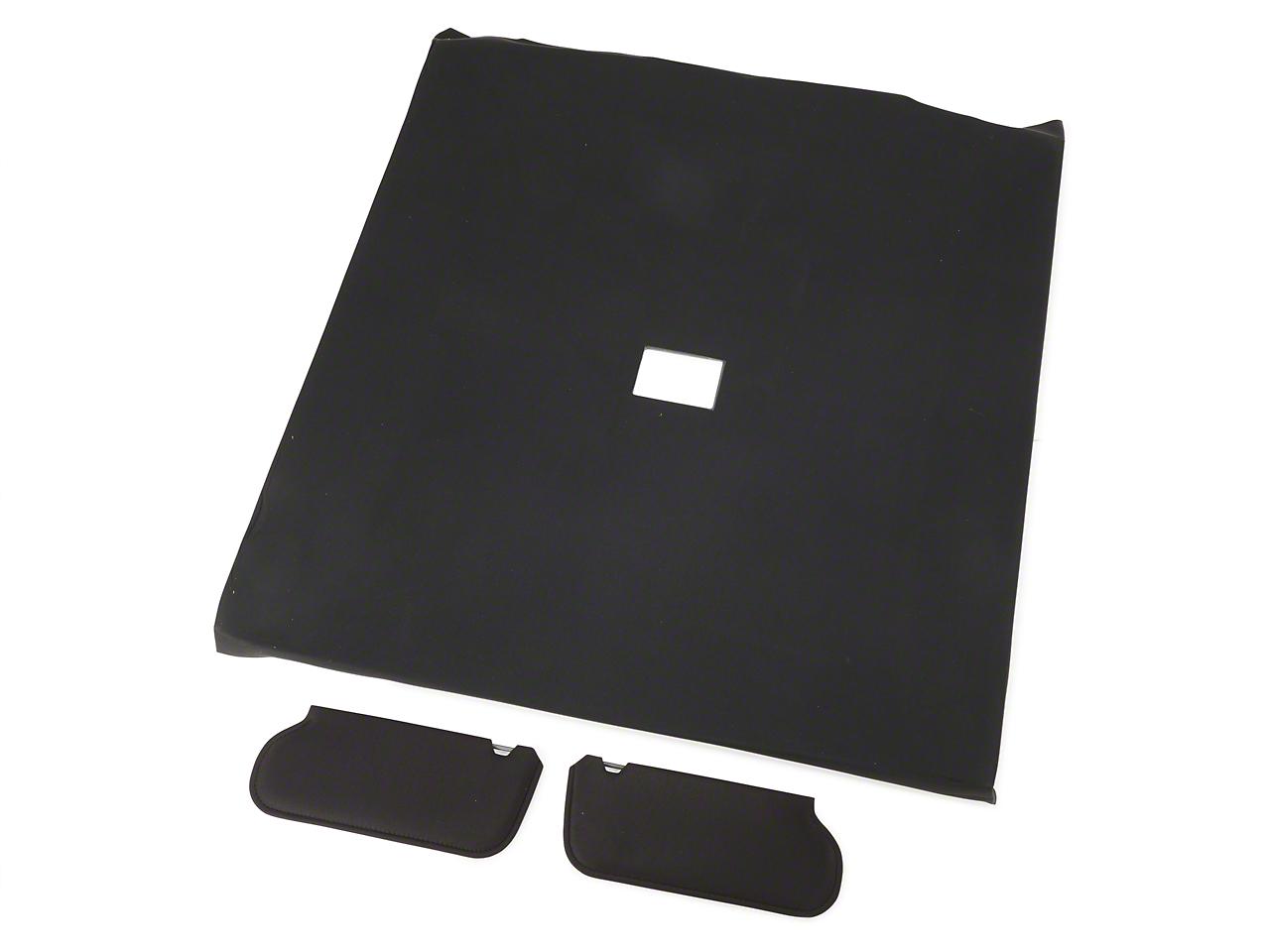 OPR Cloth Sunvisor And Headliner Kit - Black (92-93 Coupe)
