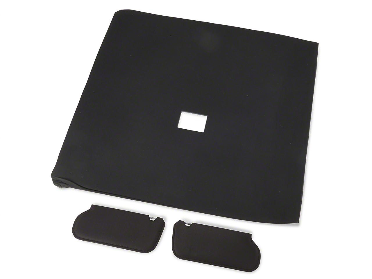 OPR Cloth Sunvisor And Headliner Kit - Black (92-93 Hatchback)