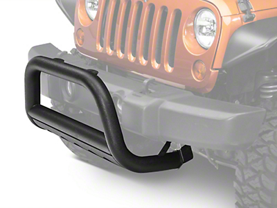 Barricade 3 in. Bull Bar w/ Skid Plate - Textured Black (10-17 Wrangler JK)