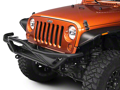 RedRock 4x4 Rock Crawler Front Grille Guard - Textured Black (07-17 Wrangler JK)