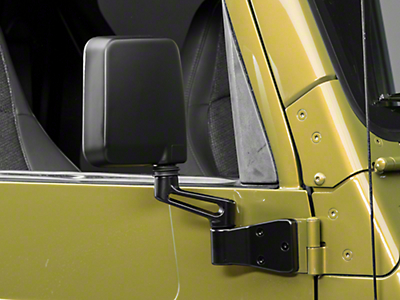 OPR Replacement Mirror - Black - Right Side (87-02 Wrangler YJ & TJ)