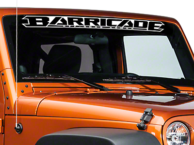 Barricade Windshield Decal - White (07-17 Wrangler JK)