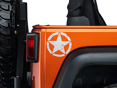 XT Graphics Small On The Move Stars - Silver - Pair (87-17 Wrangler YJ, TJ & JK)
