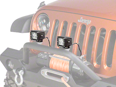 Rugged Ridge 3 in. Square LED Light Cube (87-17 Wrangler YJ, TJ & JK)
