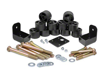 Rough Country 1.25 in. Body Lift Kit w/o Shocks (97-06 Wrangler TJ)