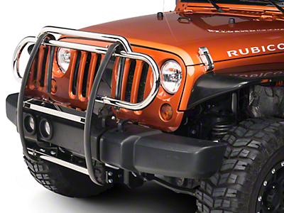 RedRock 4x4 Grille Guard - Stainless Steel (07-17 Wrangler JK)