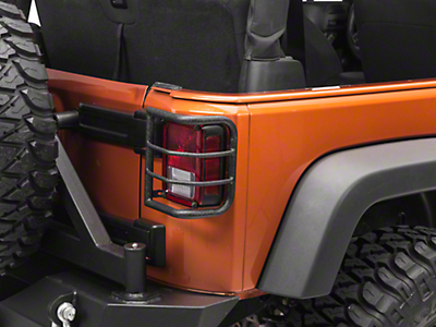 RedRock 4x4 Wrap Around Tail Light Guard - Textured Black (07-17 Wrangler JK)