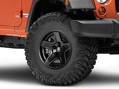 Mammoth Boulder Black Wheel - 16x8 (07-17 Wrangler JK)