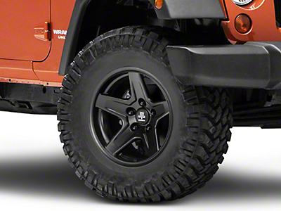 Mammoth Boulder Black Wheel - 17x9 (07-17 Wrangler JK)