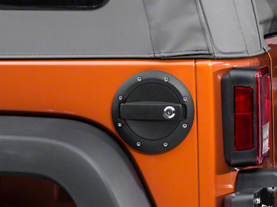 Barricade Locking Fuel Door - Textured Black (07-17 Wrangler JK)