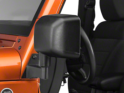 Barricade Mirror Relocation Kit - Textured Black (07-17 Wrangler JK)