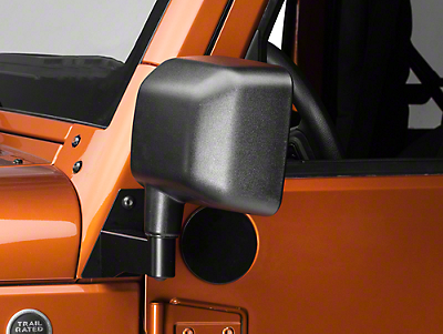 Barricade Mirror Relocation Kit - Black (07-17 Wrangler JK)