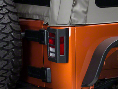 Barricade Tail Light Guard - Textured Black (07-17 Wrangler JK)