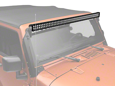 KC HiLiTES 50 in. C-Series C50 LED Light Bar - Spot/Spread Combo (87-17 Wrangler YJ, TJ & JK)