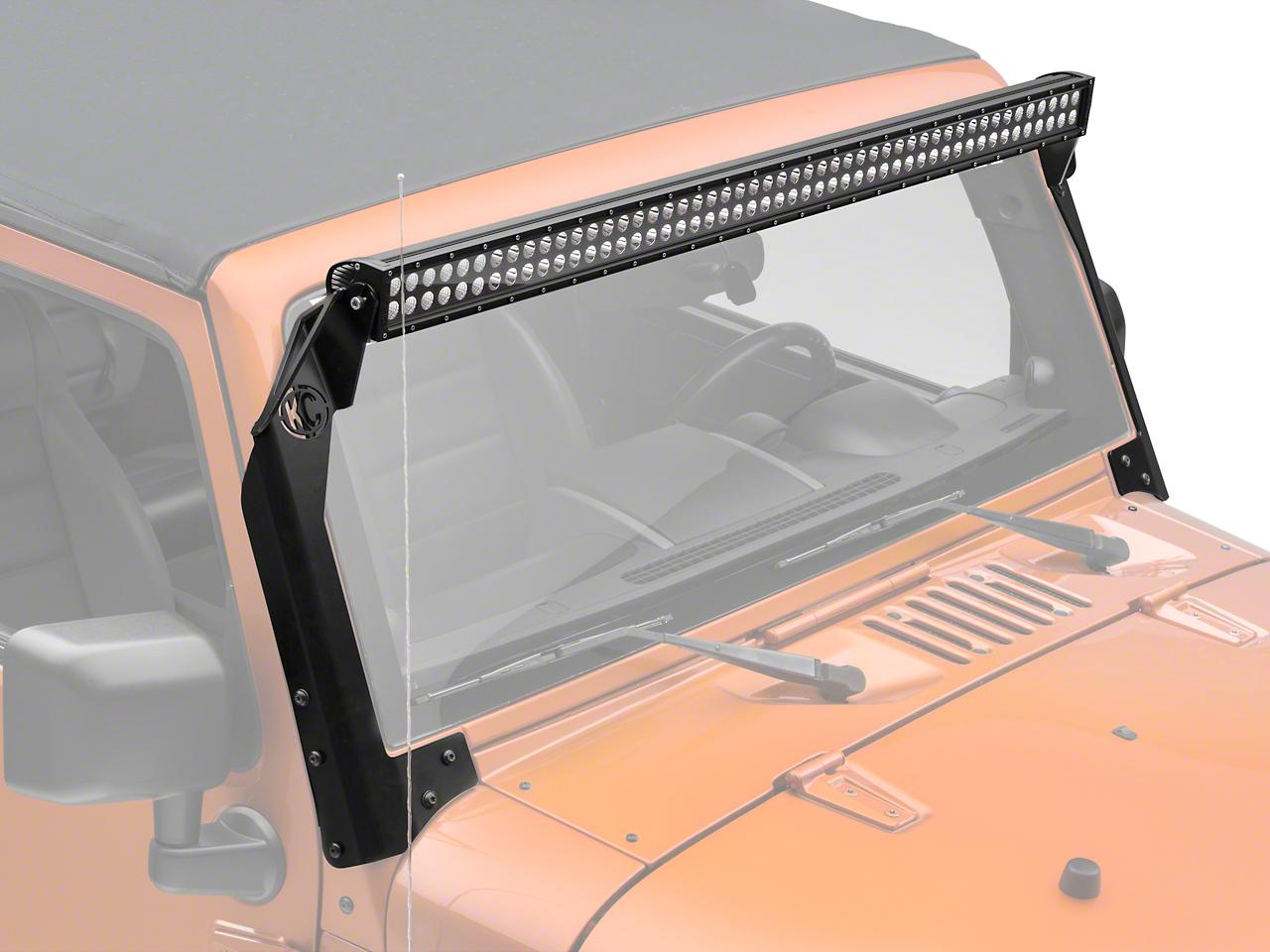 KC HiLiTES 50 in. C-Series C50 LED Light Bar w/ Overhead Mounting Brackets (07-17 Wrangler JK)