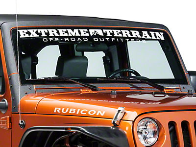 Barricade Windshield Frame Body Shield Decal - Black (07-17 Wrangler JK)