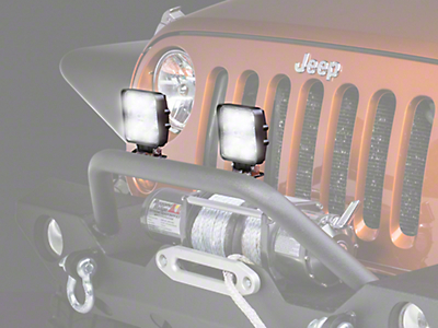 Raxiom 4.25 in. Square LED Light (87-17 Wrangler YJ, TJ & JK)