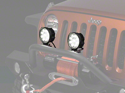 Raxiom 4.5 in. Round 9 LED Light (87-17 Wrangler YJ, TJ & JK)