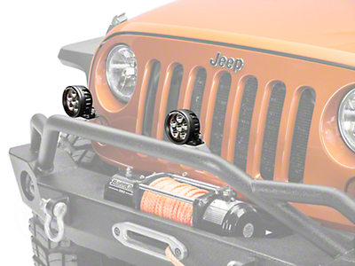 Rugged Ridge 3.5 in. Round LED Light - Driving Beam (87-17 Wrangler YJ, TJ & JK)