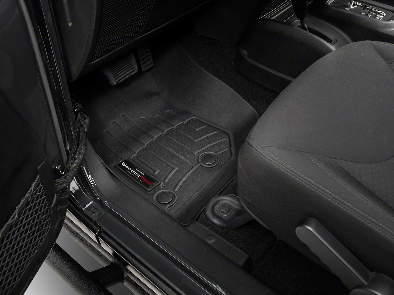 Weathertech DigitalFit Front and Rear Floorliners - Black (14-17 Wrangler JK 4 Door)