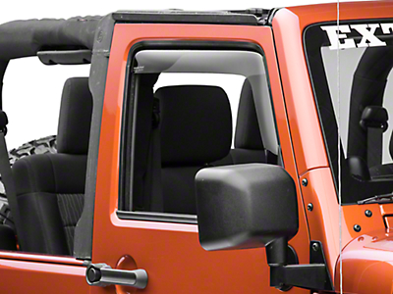 Weathertech Front Side Window Deflectors - Dark Smoke (07-17 Wrangler JK 2 Door)