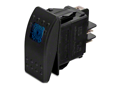 Daystar Rocker Switch - Blue Light (87-17 Wrangler YJ, TJ, & JK)