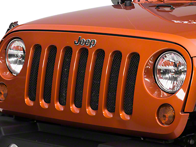 RedRock 4x4 Wire Mesh Grille - Black Stainless (07-17 Wrangler JK)