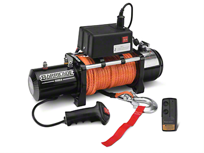 Barricade 9500lb Winch w/ Synthetic Rope & Wireless Control