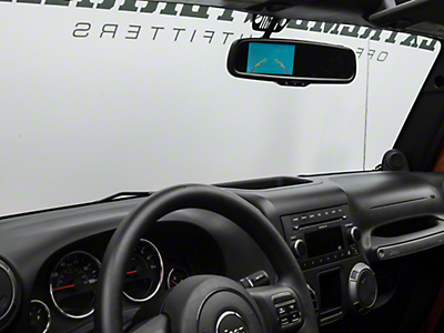 Raxiom Auto-Dimming 3.5 in. Rearview Mirror w/ Backup Camera (07-17 Wrangler JK)