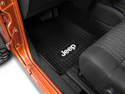 Jeep Logo Floor Mat with Anti-Skid Backing (87-17 Wrangler YJ, TJ & JK)