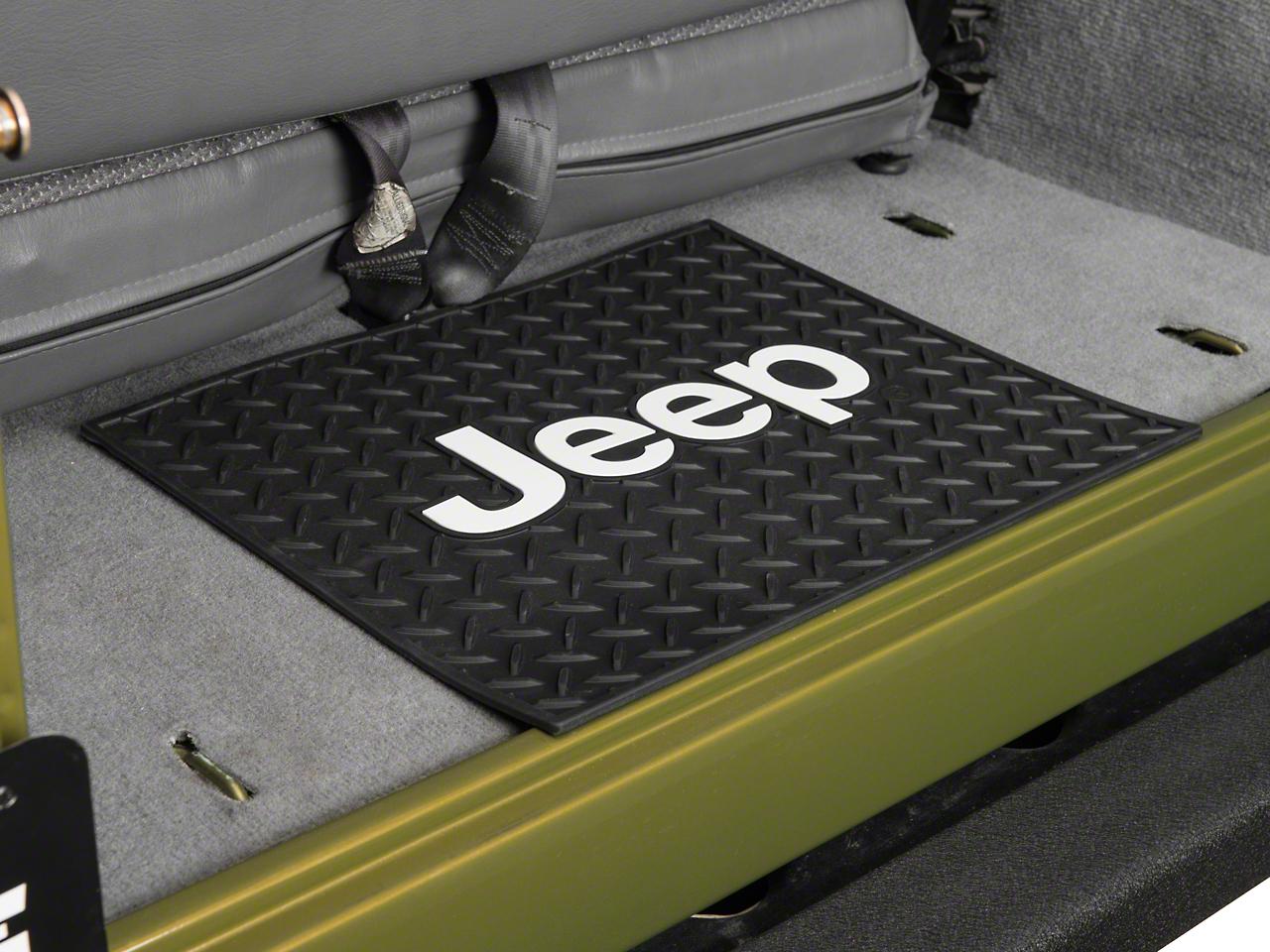 Jeep Logo Rear Utility Floor Mat (87-17 Wrangler YJ, TJ & JK)