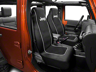 Jeep Logo Embroidered Seat Cover (87-17 Wrangler YJ, TJ & JK)