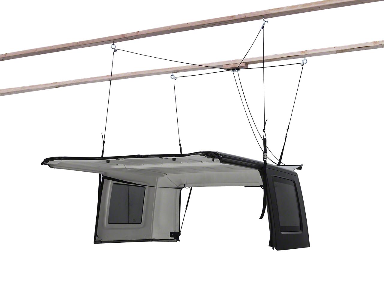 Harken Hoister Garage Storage 4-Point Lift System (87-17 Wrangler YJ, TJ & JK)