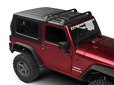 Rhino-Rack Vortex SG 2 Bar Roof Rack - Black (11-17 Wrangler JK 2 Door)