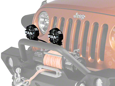 PIAA 510 Series 4 in. Round Xtreme White SMR Lights - Driving Beam - Pair (87-17 Wrangler YJ, TJ & JK)