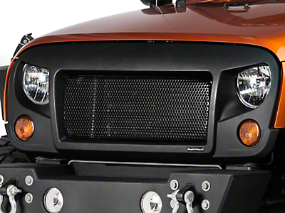Rugged Ridge Spartan Grille - Satin Black (07-17 Wrangler JK)