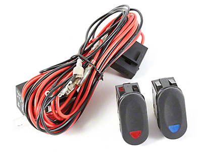 Rugged Ridge Wiring Harness for 2 HID Offroad Fog Lights w/2 Rocker Switch (87-17 Wrangler YJ, TJ & JK)