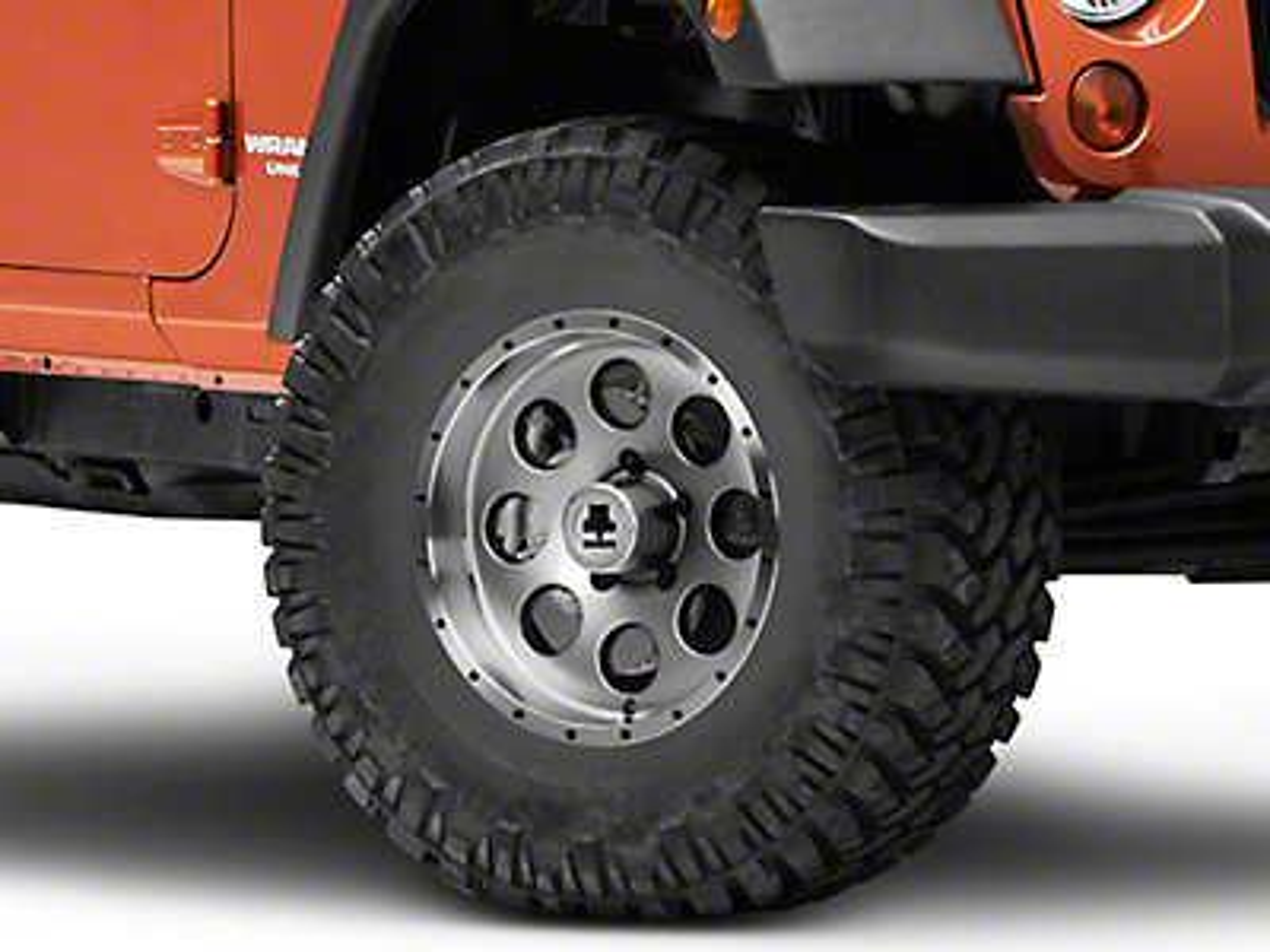 Mammoth 8 Beadlock Style Anthracite Wheel - 16x8 (07-17 Wrangler JK)