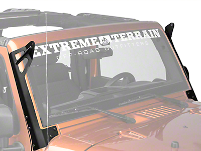 Rigid Industries 50 in. E-Series or SR-Series LED Light Bar Windshield Mount (07-17 Wrangler JK)