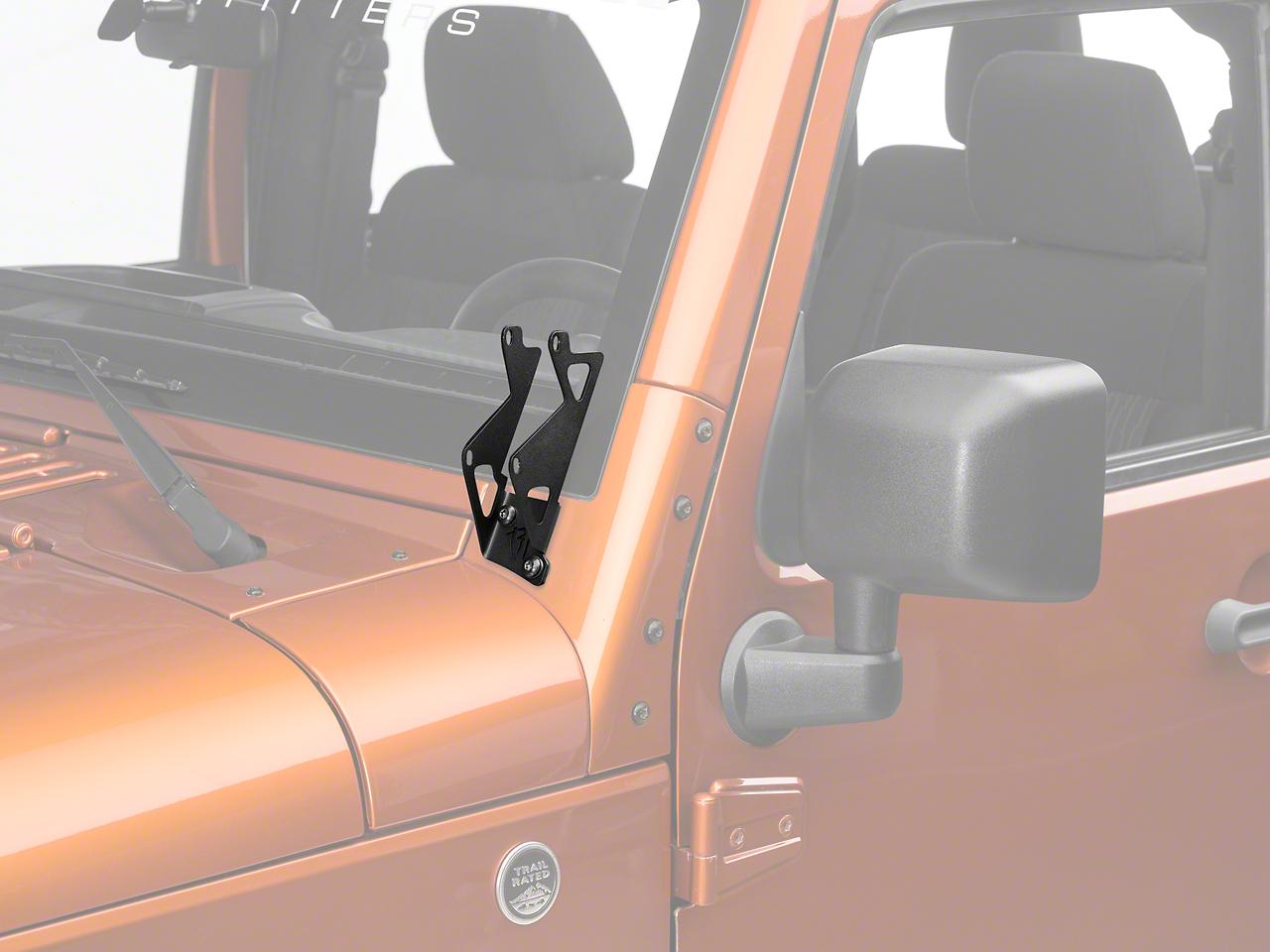 Rigid Industries Dual D-Series A-Pillar Light Mount Kit (07-17 Wrangler JK)