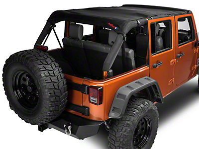 J Tops USA Safari Mesh - Black (07-16 Wrangler JK 4 Door)