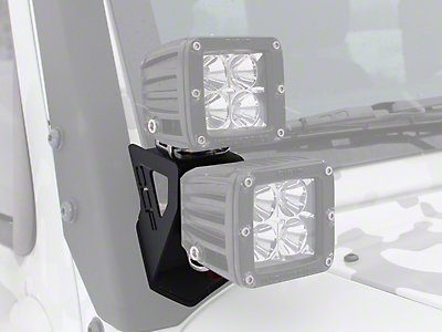 Off Camber Fabrications by MBRP Dual Windshield Pillar Light Kit (07-17 Wrangler JK)