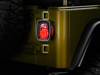 Axial LED Tail Lights - Bermuda Black (87-06 Wrangler YJ, TJ)