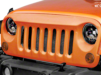 DV8 Off-Road ABS Angry Eye Style Grille - Paintable White (07-17 Wrangler JK)