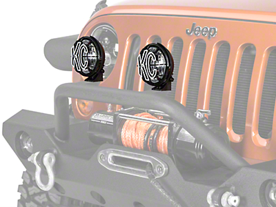 KC HiLiTES Apollo Pro 55w Halogen 5 in. Driving Lights - Pair (87-17 Wrangler YJ, TJ, JK)