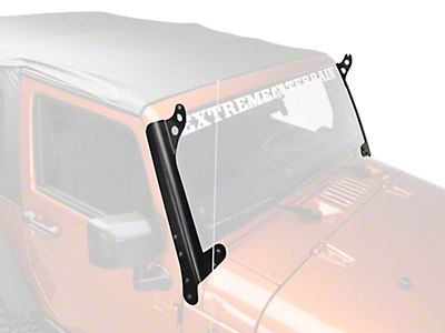 Hyline Offroad 50 in. LED Light Bar Mounting Brackets - Steel (07-17 Wrangler JK)